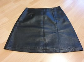 Ricano Leather Skirt black leather