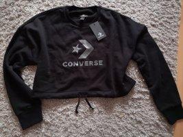 Converse Sweter oversize czarny-srebrny
