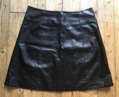 schwarzer Rock aus Kunstleder Armani Jeans