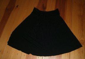 Schwarzer Rock * Größe 36 * mit Gürtel