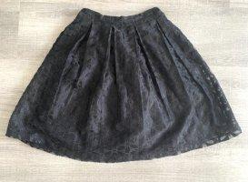 ANONYME Jupe à plis noir