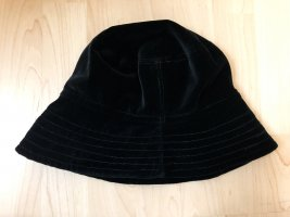 Cloche Hat black cotton