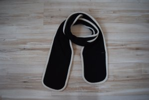 schwarzer Schal, Fleeceschal, mit Geheimversteck