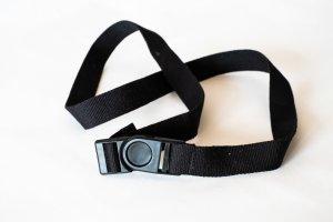 schwarzer, sportlicher Gürtel