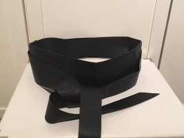 H&M Cinturón de cuero de imitación negro