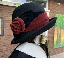 Firenze Chapeau bavarois noir-rouge foncé