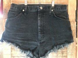 Wrangler Short en jean noir-taupe
