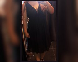 schwarzes Abendkleid Gr. L