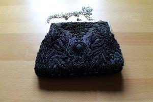 Schwarzes Abendtäschen Abendtasche mit Pailletten etc. bestückt