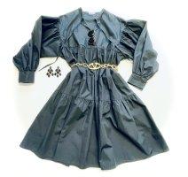 Schwarzes Boho Kleid