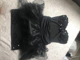 Schwarzes eingizartiges Kleid (Zweiteiler)