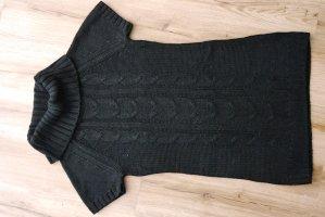 schwarzes langes Strickshirt