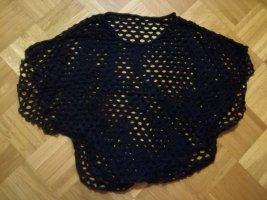 Schwarzes Netz-Shirt