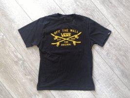 Vans Cropped Shirt black-yellow