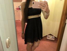 Bandeau Dress black-gold-colored