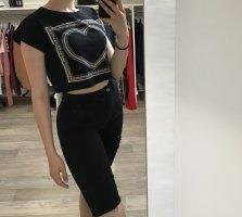 H&M T-shirt biały-czarny
