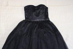 Schwarzes Tüllkleid Trägerlos H&M 34 XS Bandeau kurz