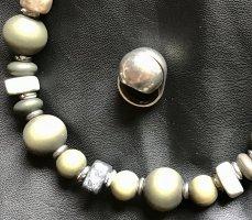 0039 Italy Srebrny pierścionek Wielokolorowy