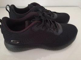 Skechers Basket à lacet noir