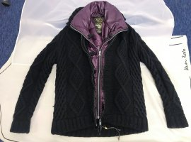 * SCOTCH & SODA * DOPPEL JACKE Strickjacke WOLLE schwarz STEPPWESTE LILA GR 40 L