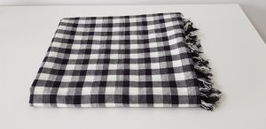 Scotch & Soda Schal Tuch Baumwolle schwarz weiß kariert