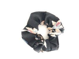 Scrunchie schwarz Blumen