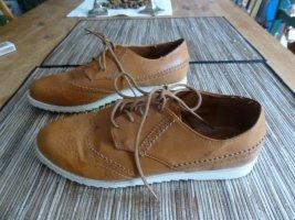 SDS Lace Shoes cognac-coloured