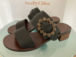 See by Chloé Socque brun noir-bronze