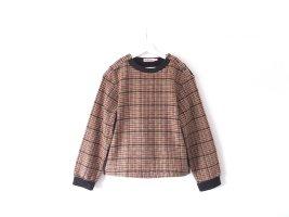 See by Chloé Sweater Gr. 42 40 L Pullover Chloe tweed rosa khaki schwarz weiß Wolle