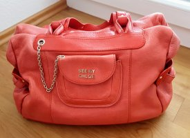 See by chloe Trage Schultertasche coral