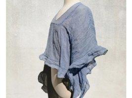 Chloé Kimono Blouse natural white-azure cotton