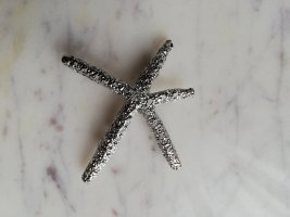 Hair Clip silver-colored metal