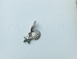 Pandora Dije color plata-azul bebé