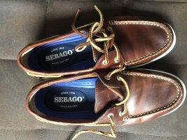 Sebago Zapatos de marinero marrón Cuero