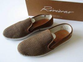 Zapatos de marinero blanco-coñac