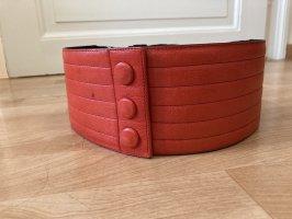 Ceinture de taille rouge brique cuir