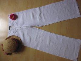 Cambio Linen Pants white linen