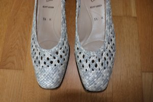 ara Slip-on Shoes white-silver-colored leather
