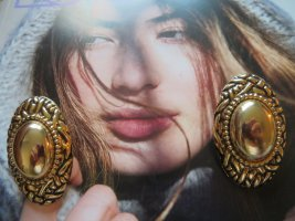 sehr große goldene Statement Ohrringe Ohrclips Bohemian Style