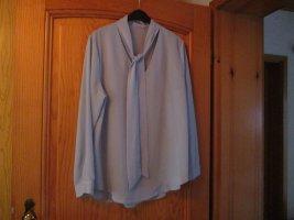 Yidarton Blusa collo a cravatta blu pallido