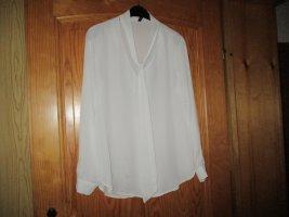 Blouse avec noeuds blanc polyester