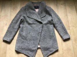 Sehr schöne boucle Jacke in Grau–Melange