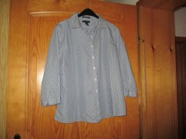 Lands' End Camicia blusa bianco-blu scuro