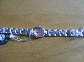 Beverly Hills Polo Club Zegarek z metalowym paskiem jasny różowy-srebrny Metal