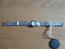 Beverly Hills Polo Club Zegarek z metalowym paskiem biały-srebrny