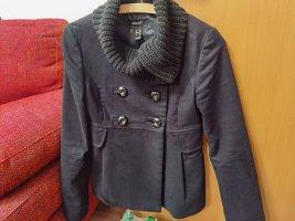 Mango Manteau court noir coton
