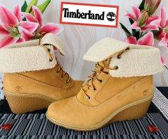 Timberland Botas de cuña beige-marrón arena