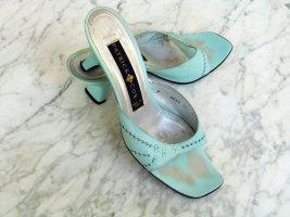 Cox Heel Pantolettes light blue