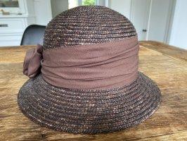 Seeberger Chapeau de paille brun foncé