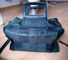 Nina ricci Bowling Bag dark blue leather
